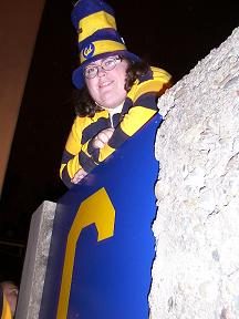 katster, in blue and gold